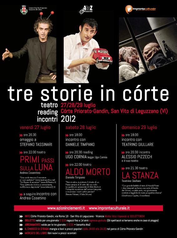 tre storie in corte 2012 | impronta culturale